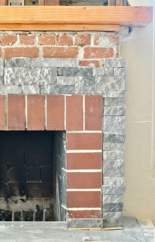 Fireplace renovation with AirStone