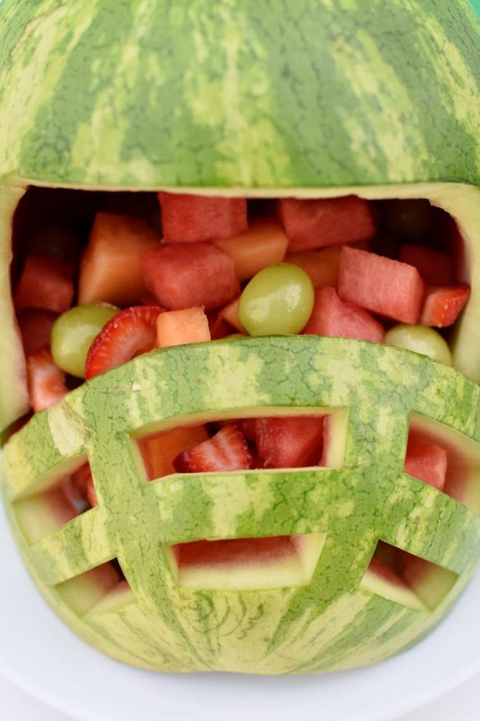 Football helmet watermelon