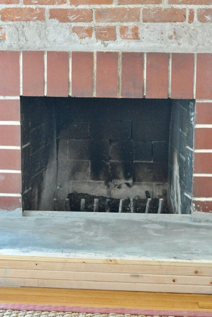 How to update an old brick fireplace