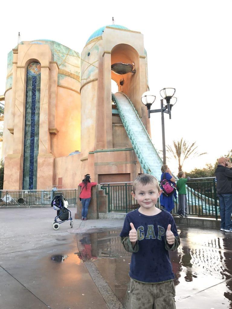 Journey to Atlantis ride at SeaWorld San Diego