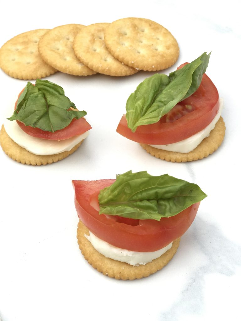 RITZ crackers Caprese appetizer
