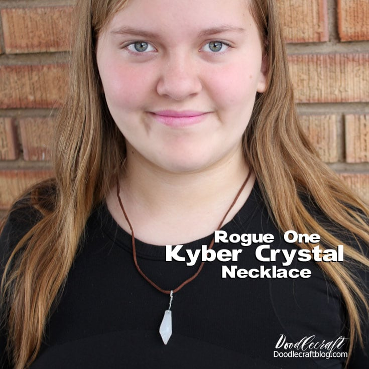 star wars rogue one kyber crystal necklace easy diy party favor craft for kids geekery geek valentine's day jewelry