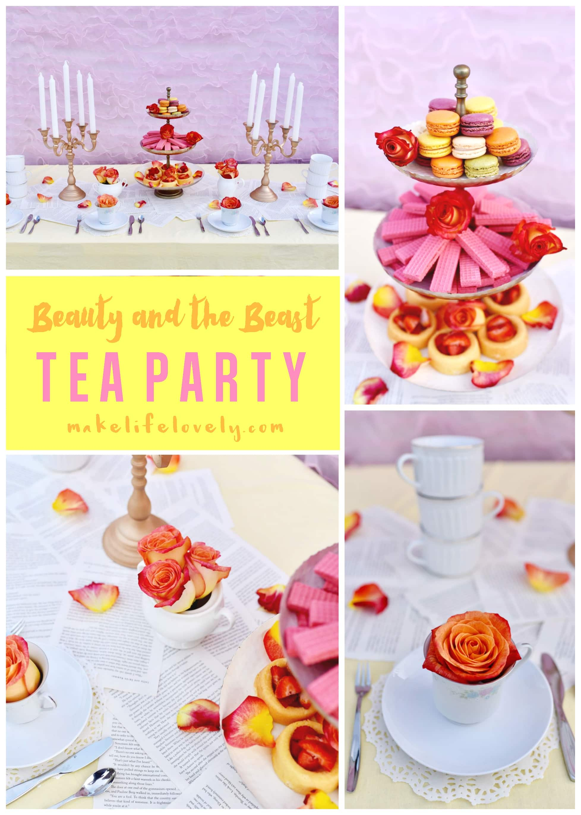 Belle Beauty and the Beast Party - Make Life Lovely