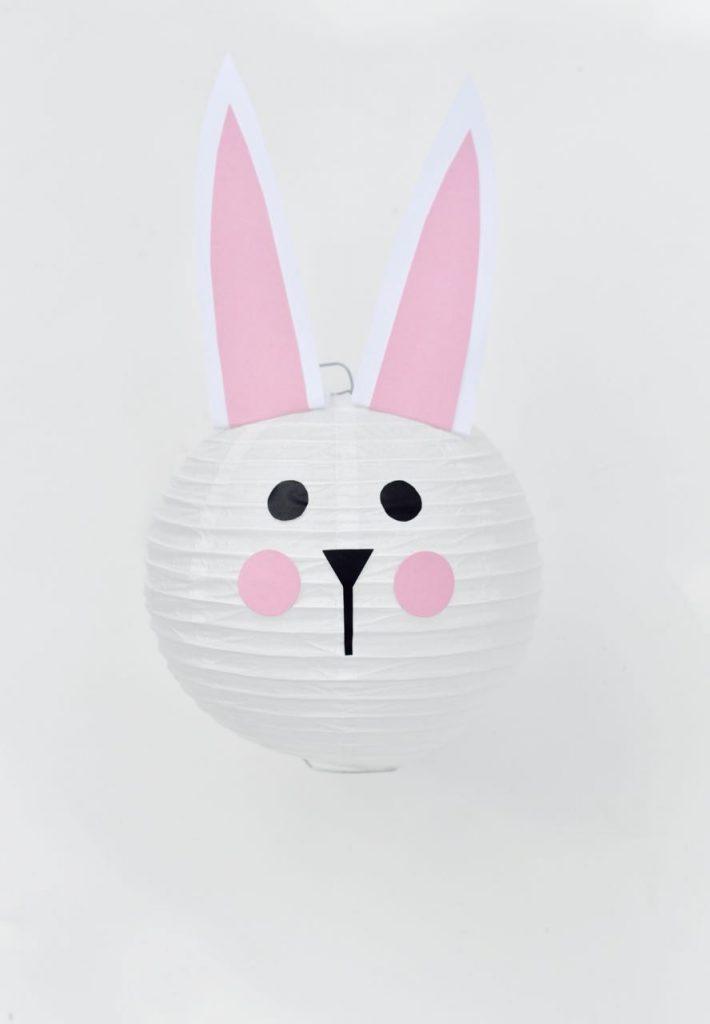 Easter bunny paper lantern tutorial