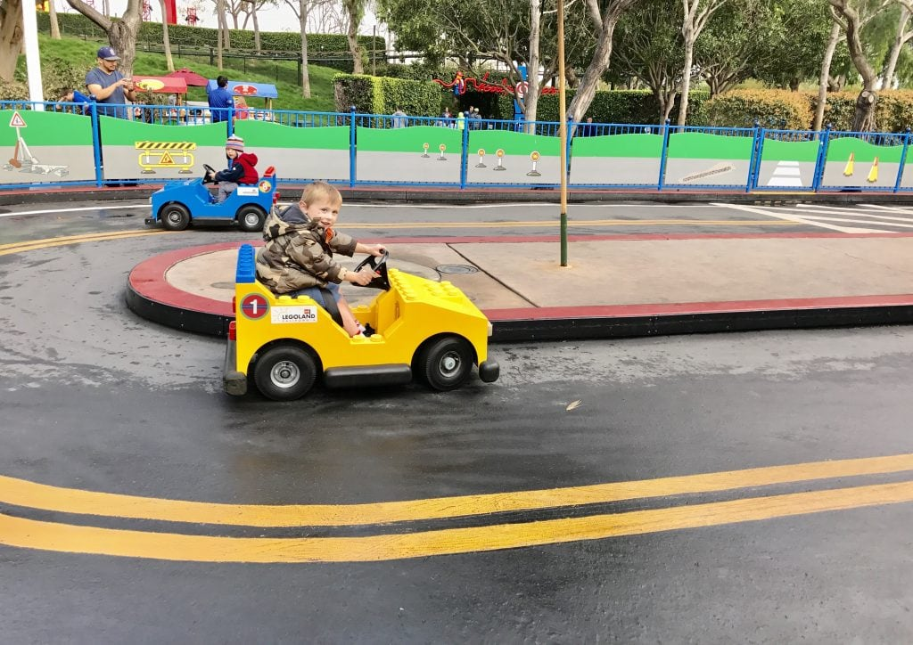 Legoland CA car driving ride