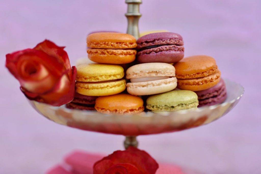 Macaroons at a Belle princess tea party for Beauty and the Beast