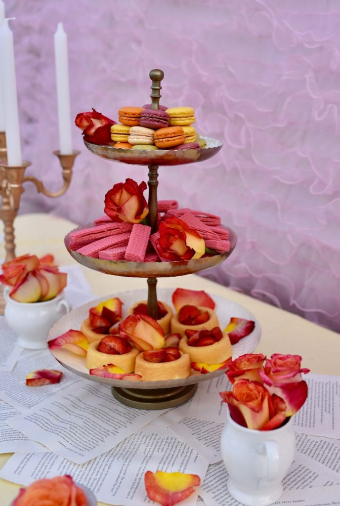Tea party food ideas at a Beauty and the Beast Party
