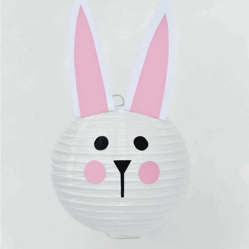 Easter bunny paper lantern tutorial. SO easy and cute!