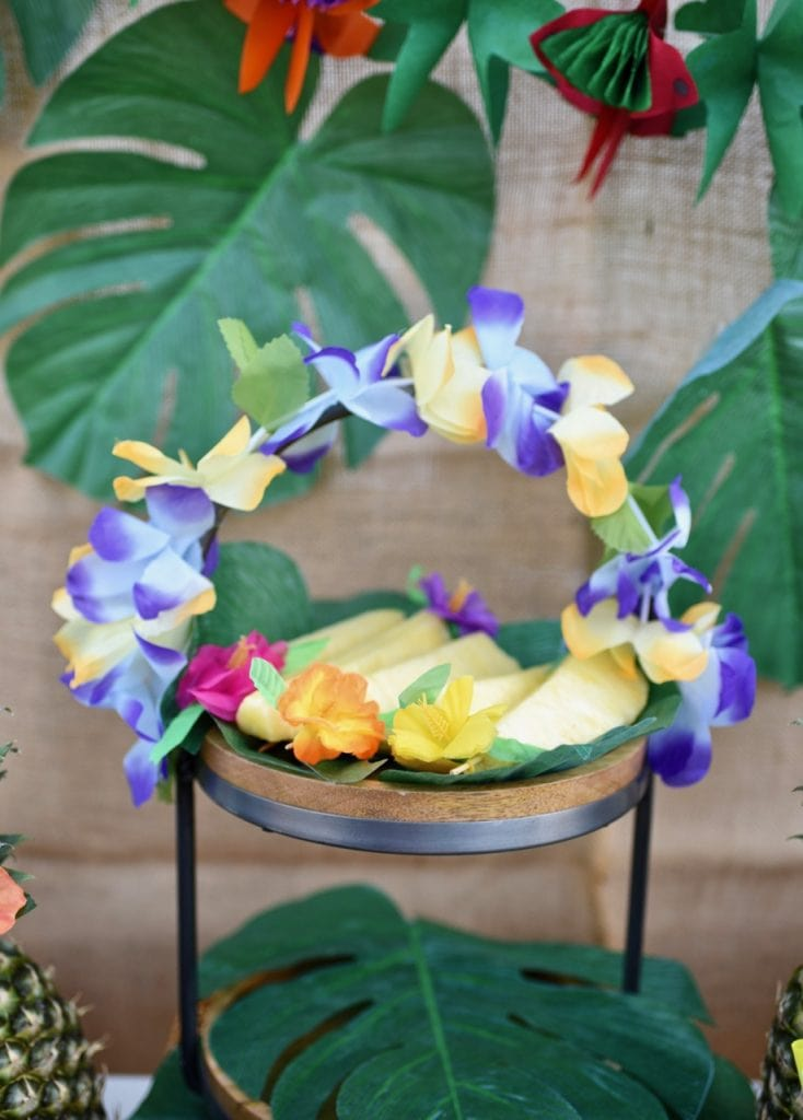 Moana party table and food ideas