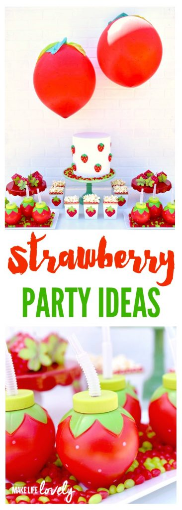 Strawberry party ideas. Such a fun party theme!