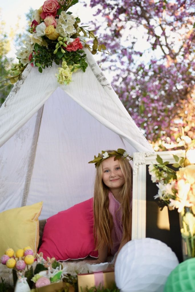 Boho woodland teepee party ideas