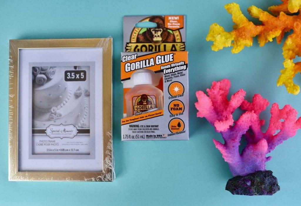 DIY coral bookends supplies