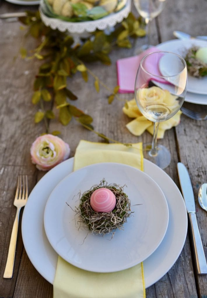 Easter nest place setting tutorial