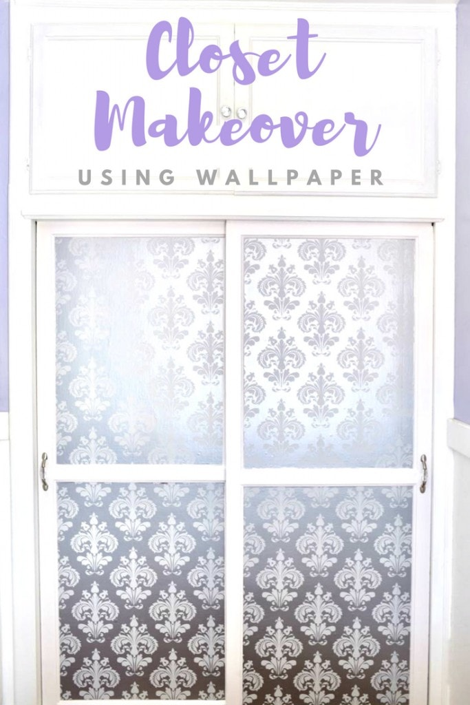 Easy closet makeover with wallpaper