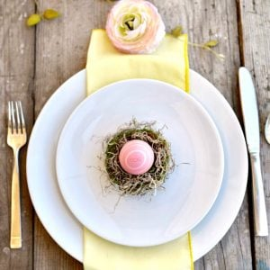 Easter Nest Place Setting and Favor DIY