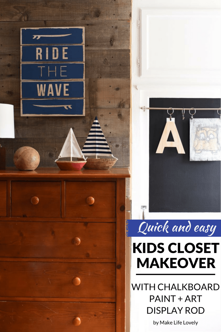 Quick And Easy Kids Closet Makeover With Chalkboard Paint