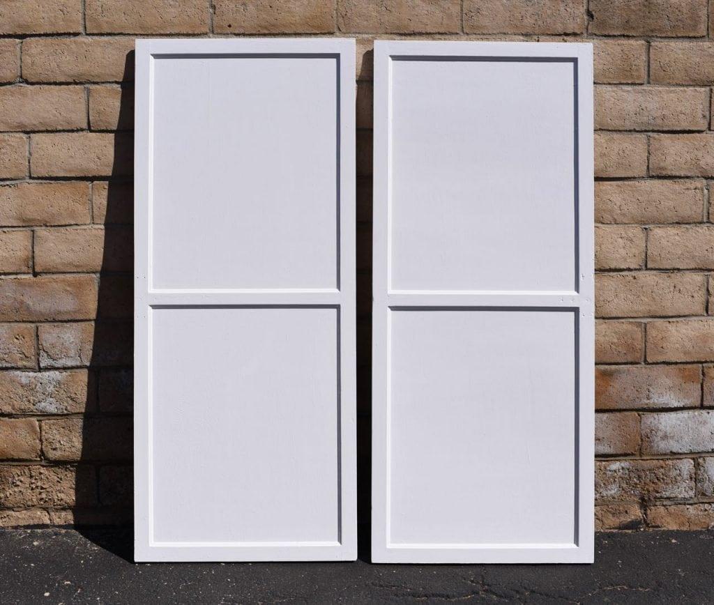 Repaint old closet doors closet makeover