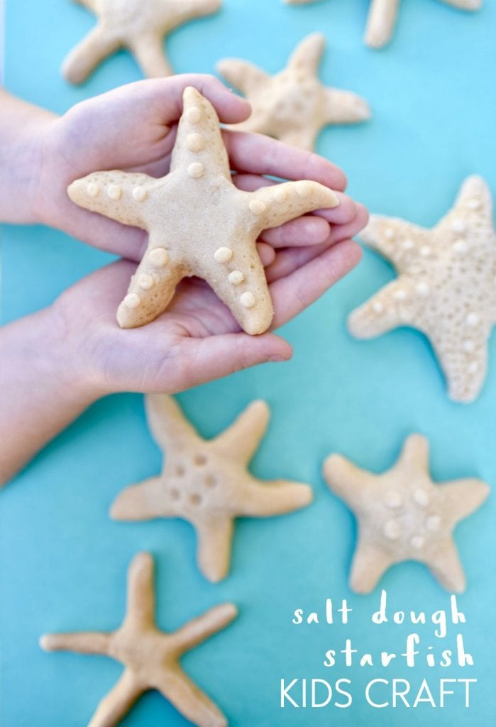 Salt Dough Starfish Kids Craft | A fun kids activity to fill those summer days.