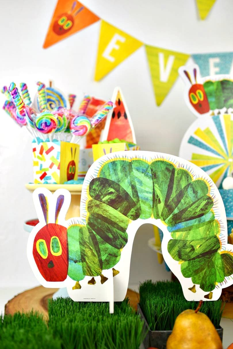 The Hungry Caterpillar Party Decorations  from www.makelifelovely.com