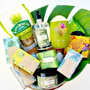 Tropical Mother's Day Gift Basket Idea that Mom Will LOVE!