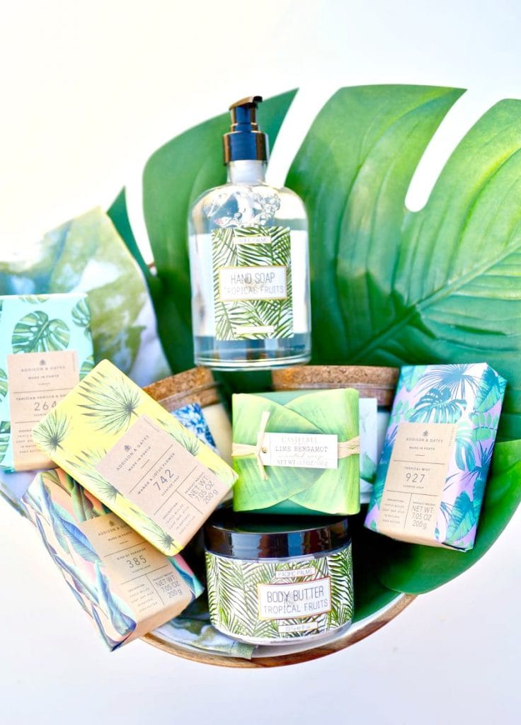Tropical Mother's Day gift basket tutorial