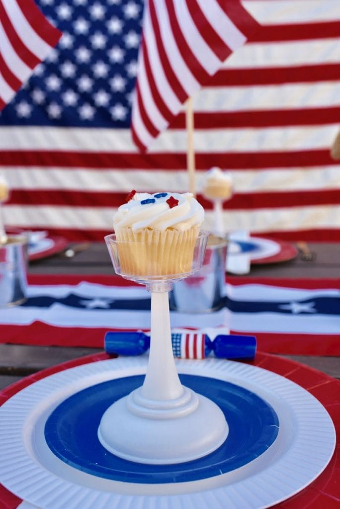 4th of July cupcakes and party celebration