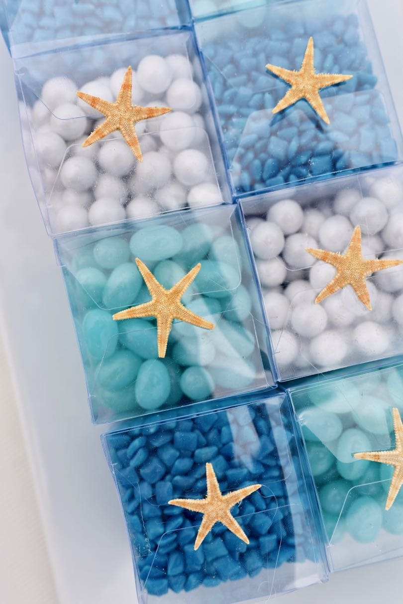 Blue Candy Buffet For An Ocean Themed Wedding Make Life Lovely