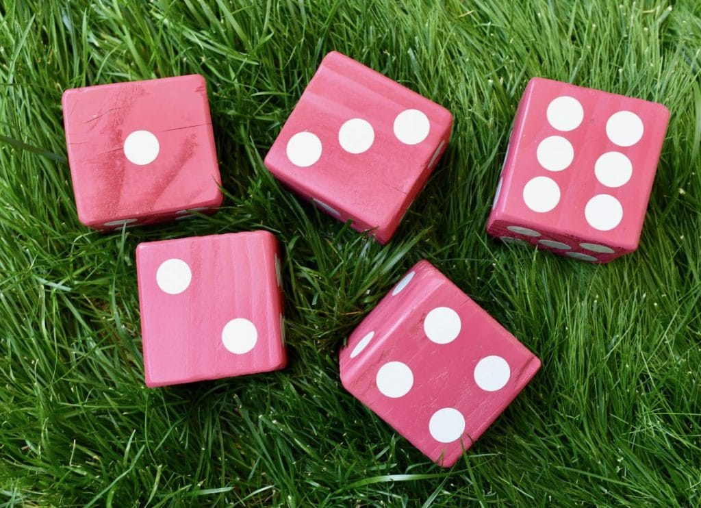 Giant Yahtzee DIY outdoor game
