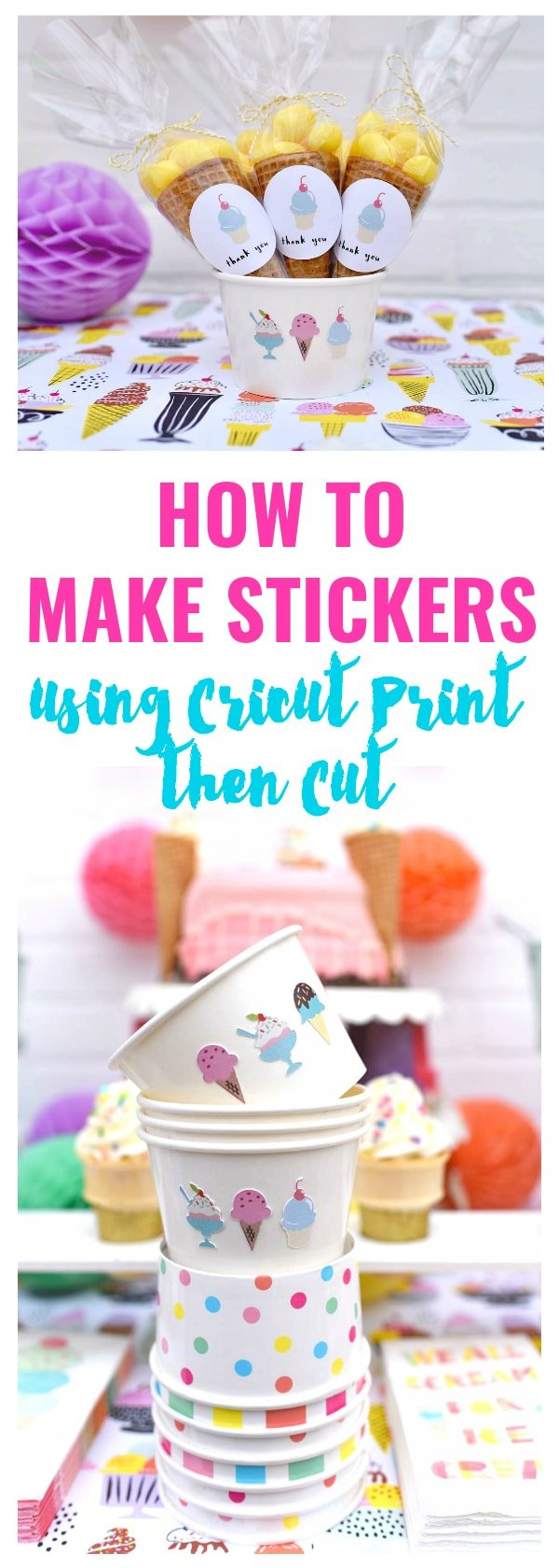 how to make stickers using cricut print then cut - make life lovely