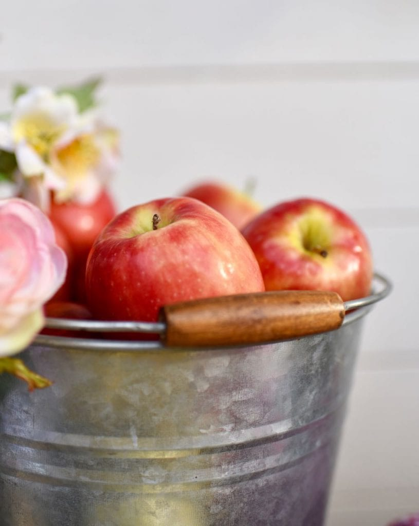 Apples and flowers at county fair party