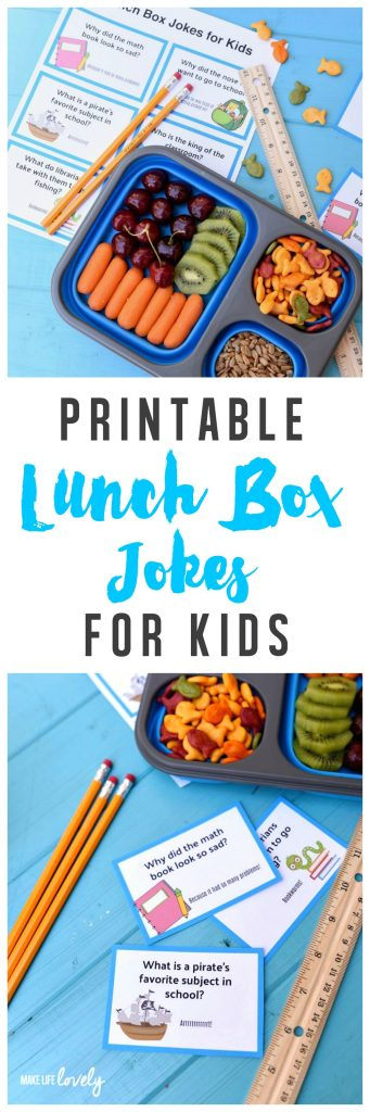 Printable lunch box jokes for kids, perfect for back to school!