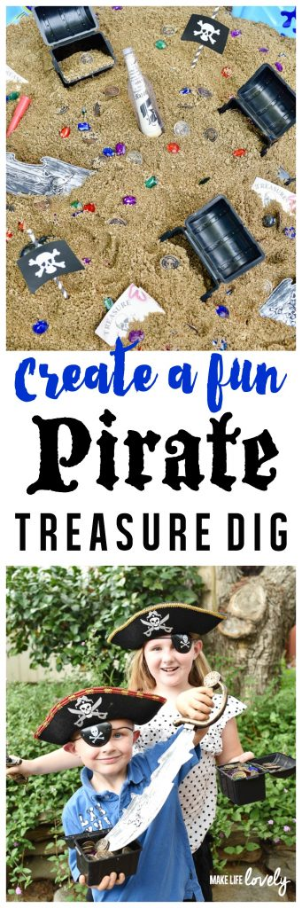 How to Create a Fun Pirate Treasure Dig! Let your kids dig for buried pirate treasure with this fun activity, perfect for a pirate party or just for fun!