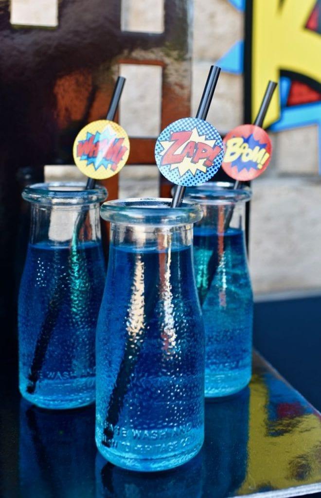 LEGO Batman party drinks