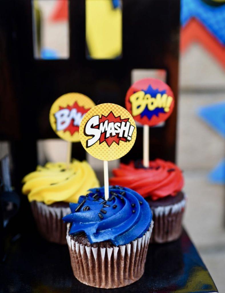 LEGO Batman party food cupcakes