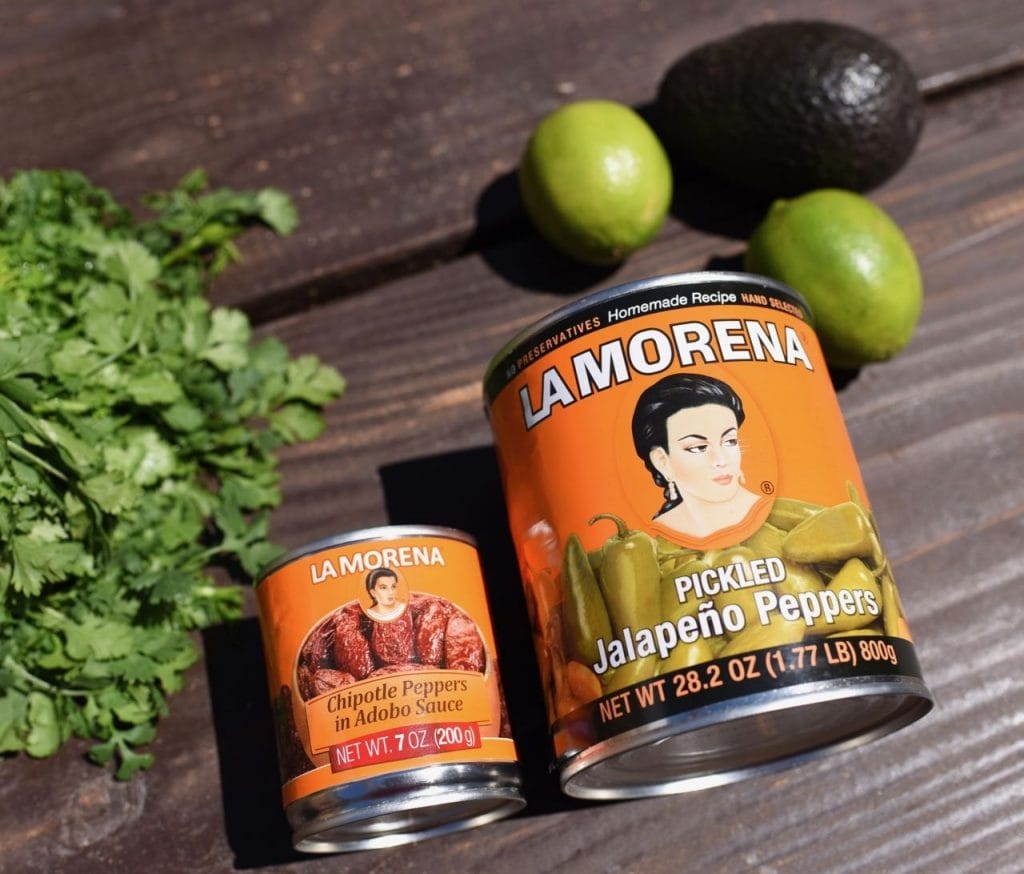 La Morena Chipotle peppers for chipotle cheese enchiladas