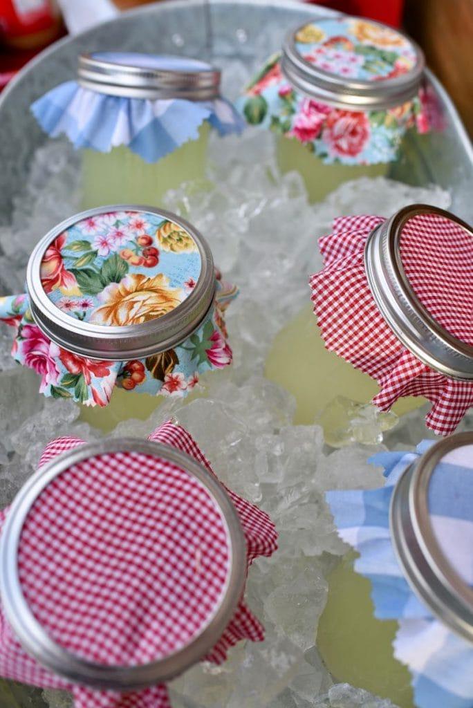 Mason jar lemonade at county fair party