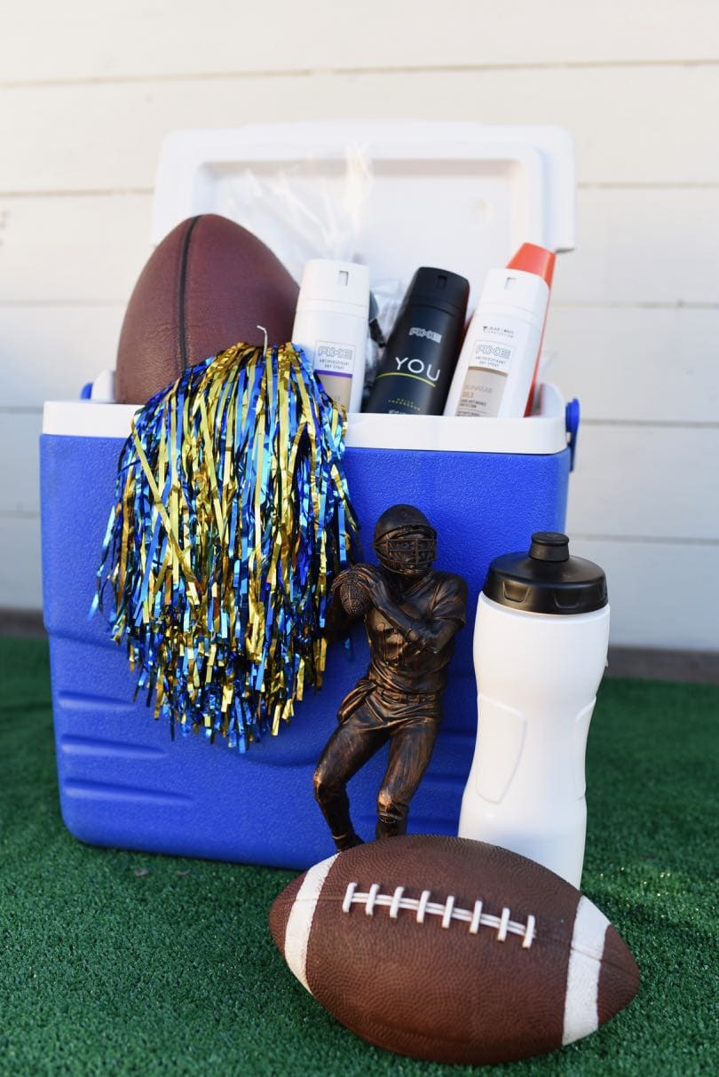 DIY football gift basket & DIY Football Gift Basket for a Teenage Boy - Make Life Lovely