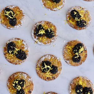 Lemon Blackberry Cranberry Crackers Appetizer