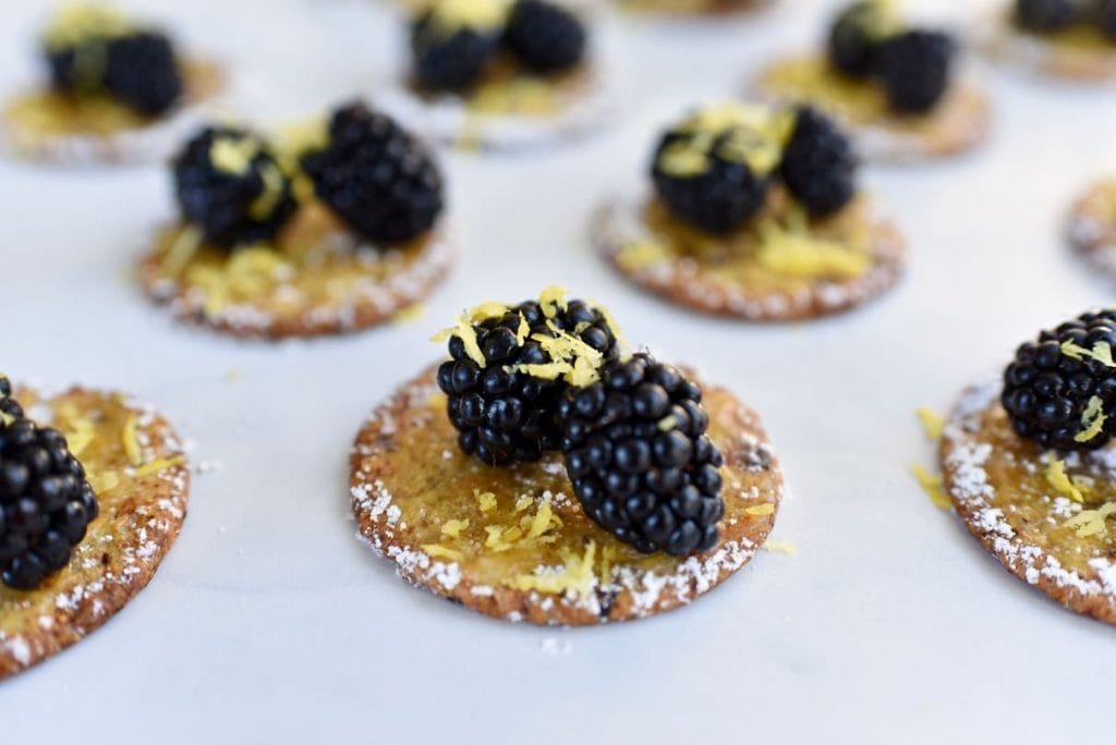 Lemon blackberry cranberry crackers appetizer recipe