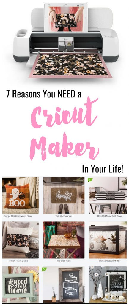 7 Reasons you need a Cricut Maker in your life. Seriously, this is the coolest machine for crafters!  Learn all about what the Cricut Maker machine can do.