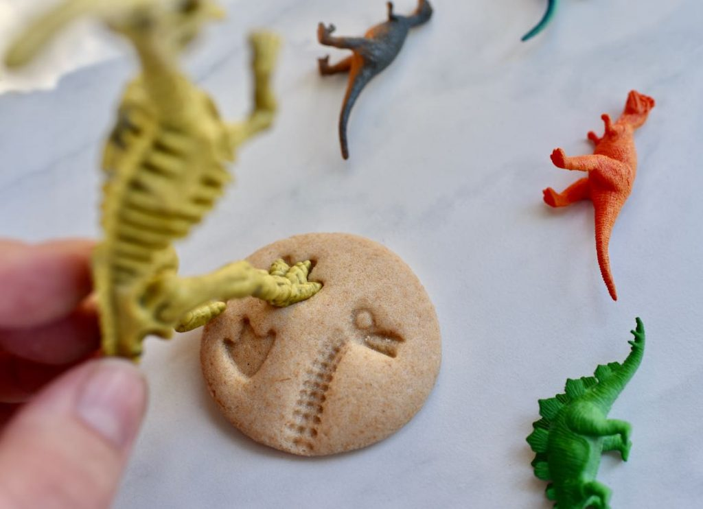 DIY dinosaur fossils for dinosaur dig party