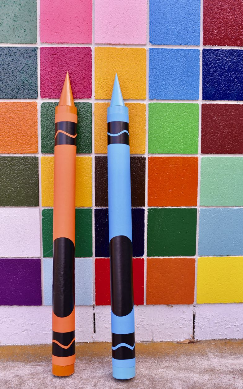 Giant Crayon DIY for Back to School, Classroom, Party Prop, & More
