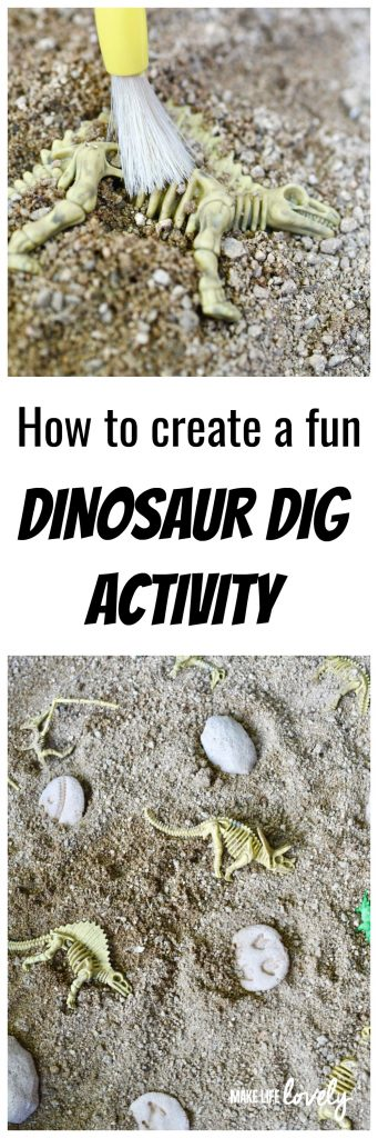 How to create a fun dinosaur dig activity