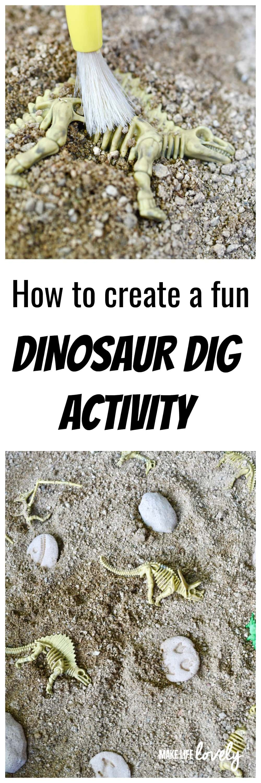 DIY Dinosaur Dig Activity for Kids - Make Life Lovely
