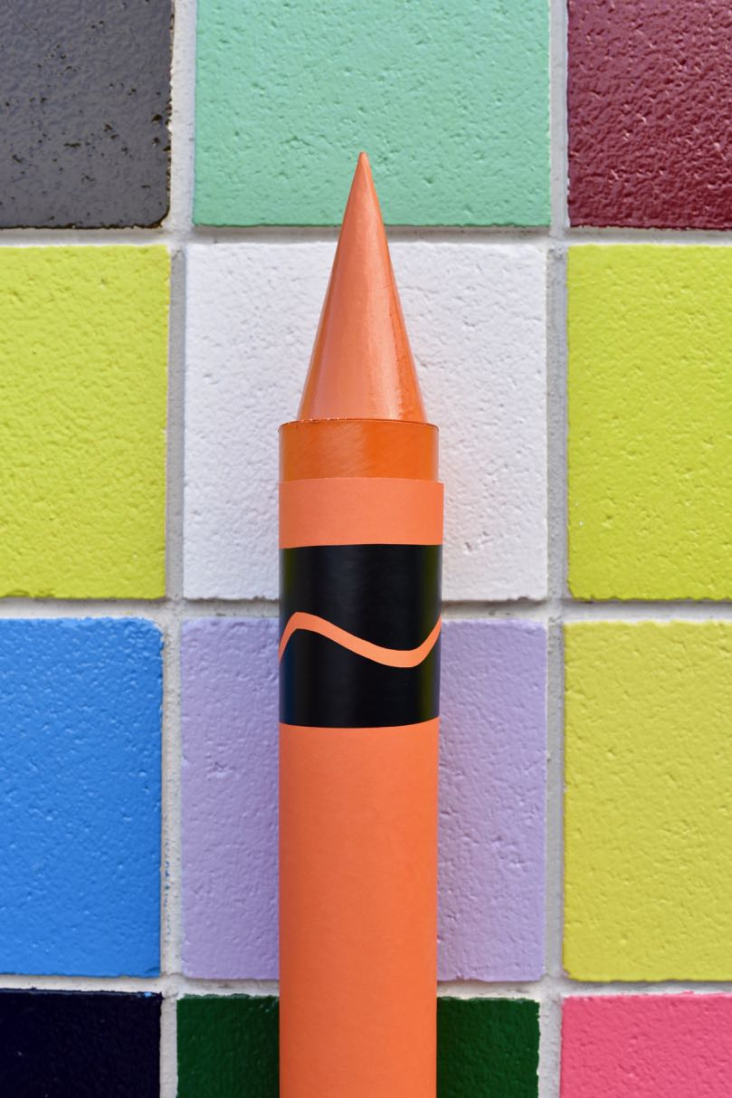 Giant Crayon Diy For Back To School Classroom Party Prop