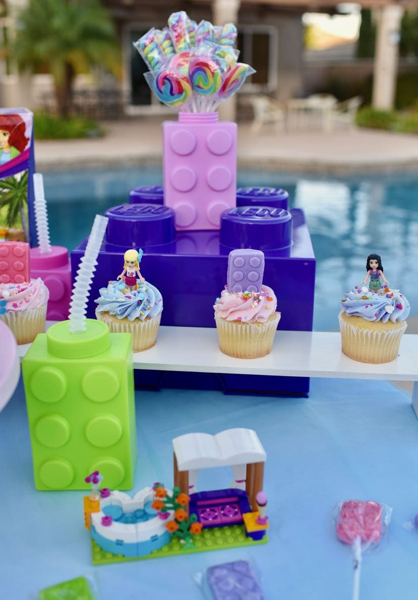 Wondrous Lego Friends Party Poolside To Celebrate The End Of Summer Make Personalised Birthday Cards Paralily Jamesorg
