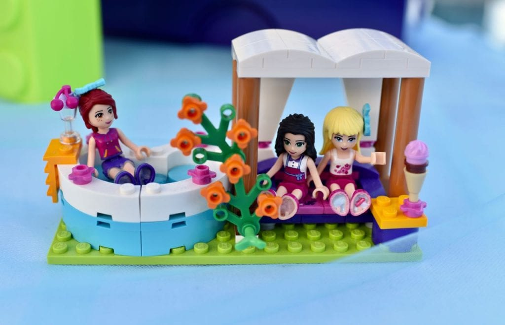 LEGO Friends party with Heartlake Summer Pool set