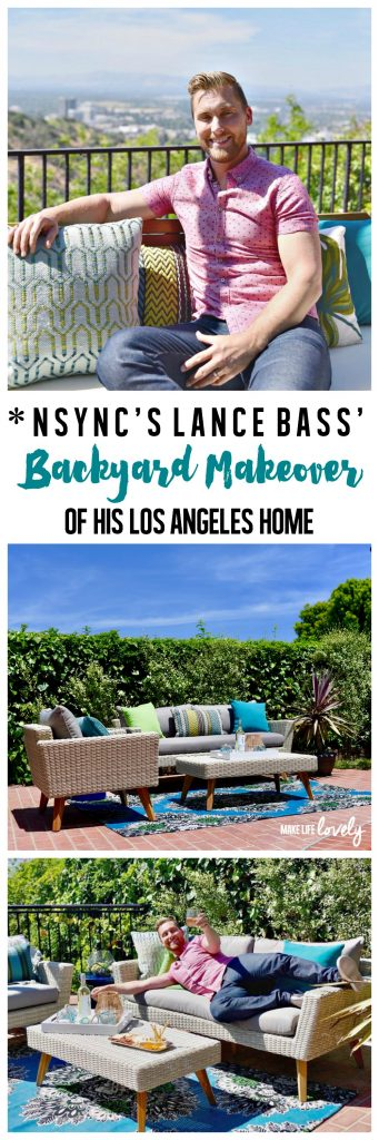 Get a behind the scenes look at Lance Bass' gorgeous backyard makeover of his Los Angeles home!