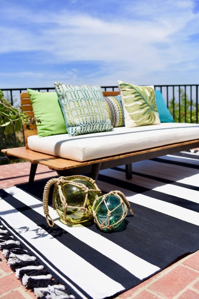 World Market outdoor furniture at Lance Bass house