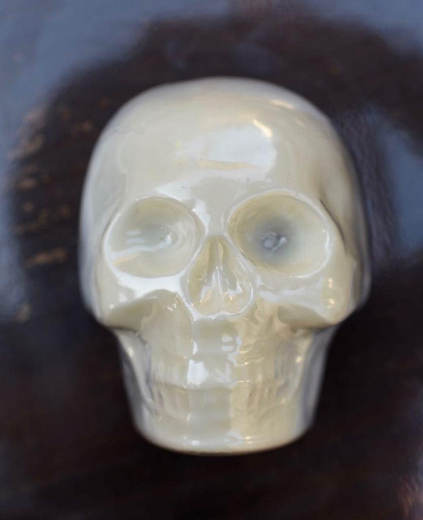 Chocolate skull cake Halloween treat